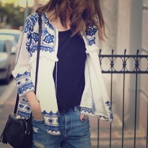 Zara Trafaluc embroidered jacket